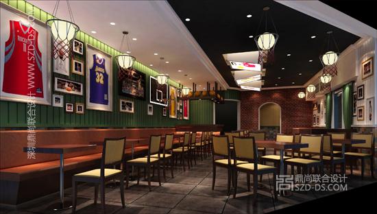 主題餐廳設計(斗牛籃球主題餐廳)