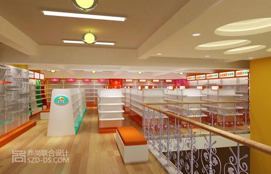 深圳母婴坊超市设计效果图 专卖店商业设计 鼎尚联合装饰设计公司